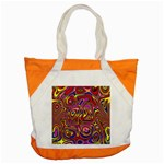 Abstract Shimmering Multicolor Swirly Accent Tote Bag Front