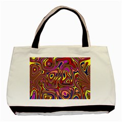 Abstract Shimmering Multicolor Swirly Basic Tote Bag (Two Sides)
