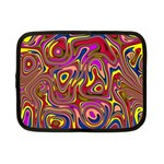 Abstract Shimmering Multicolor Swirly Netbook Case (Small)  Front