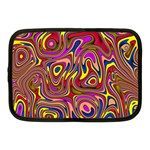 Abstract Shimmering Multicolor Swirly Netbook Case (Medium)  Front