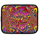 Abstract Shimmering Multicolor Swirly Netbook Case (Large) Front