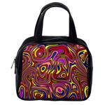 Abstract Shimmering Multicolor Swirly Classic Handbags (One Side) Front