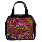 Abstract Shimmering Multicolor Swirly Classic Handbags (2 Sides) Front