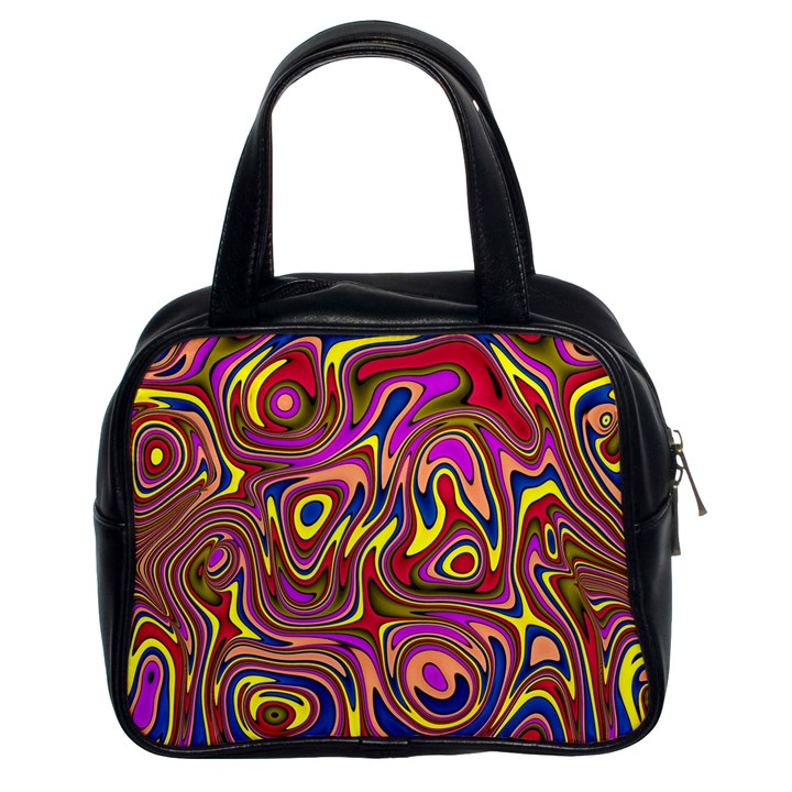 Abstract Shimmering Multicolor Swirly Classic Handbags (2 Sides)