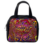Abstract Shimmering Multicolor Swirly Classic Handbags (2 Sides) Back