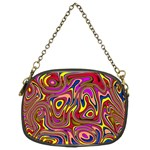 Abstract Shimmering Multicolor Swirly Chain Purses (Two Sides)  Front