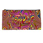 Abstract Shimmering Multicolor Swirly Pencil Cases Front