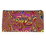 Abstract Shimmering Multicolor Swirly Pencil Cases Back