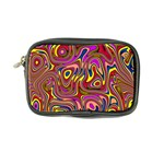 Abstract Shimmering Multicolor Swirly Coin Purse Front