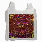 Abstract Shimmering Multicolor Swirly Recycle Bag (One Side) Front
