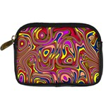 Abstract Shimmering Multicolor Swirly Digital Camera Cases Front