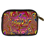 Abstract Shimmering Multicolor Swirly Digital Camera Cases Back