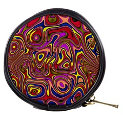 Abstract Shimmering Multicolor Swirly Mini Makeup Bags