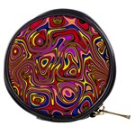 Abstract Shimmering Multicolor Swirly Mini Makeup Bags Front