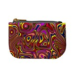 Abstract Shimmering Multicolor Swirly Mini Coin Purses Front