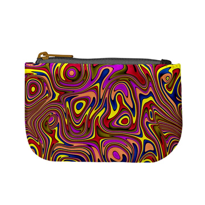 Abstract Shimmering Multicolor Swirly Mini Coin Purses