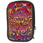 Abstract Shimmering Multicolor Swirly Compact Camera Cases Front