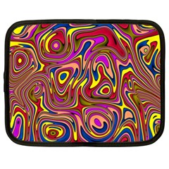 Abstract Shimmering Multicolor Swirly Netbook Case (XL)