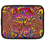 Abstract Shimmering Multicolor Swirly Netbook Case (XL)  Front