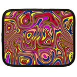 Abstract Shimmering Multicolor Swirly Netbook Case (XXL)  Front