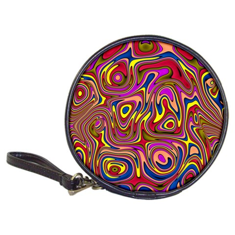 Abstract Shimmering Multicolor Swirly Classic 20-CD Wallets