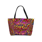 Abstract Shimmering Multicolor Swirly Shoulder Handbags Front