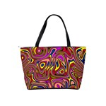 Abstract Shimmering Multicolor Swirly Shoulder Handbags Back