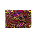 Abstract Shimmering Multicolor Swirly Cosmetic Bag (Medium)  Front