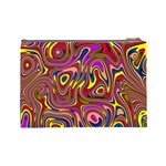 Abstract Shimmering Multicolor Swirly Cosmetic Bag (Large)  Back