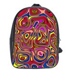 Abstract Shimmering Multicolor Swirly School Bags(Large)  Front