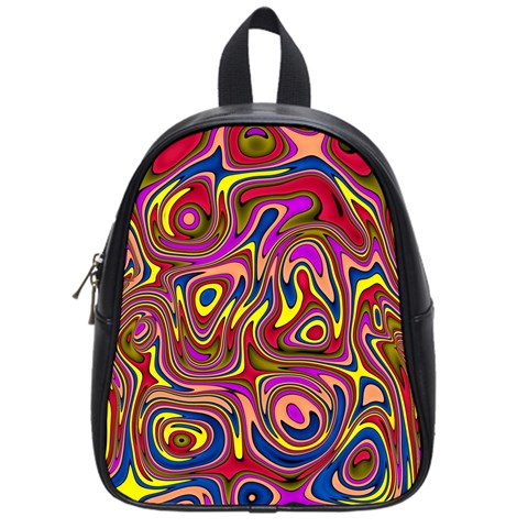 Abstract Shimmering Multicolor Swirly School Bags (Small)