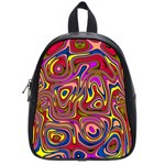 Abstract Shimmering Multicolor Swirly School Bags (Small)  Front