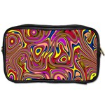 Abstract Shimmering Multicolor Swirly Toiletries Bags Front