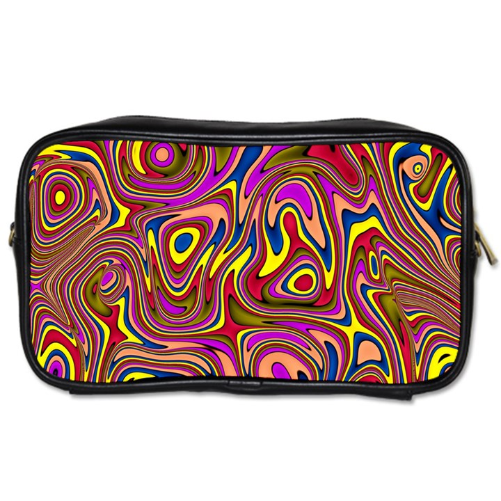 Abstract Shimmering Multicolor Swirly Toiletries Bags 2-Side