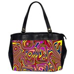 Abstract Shimmering Multicolor Swirly Office Handbags (2 Sides)  Front