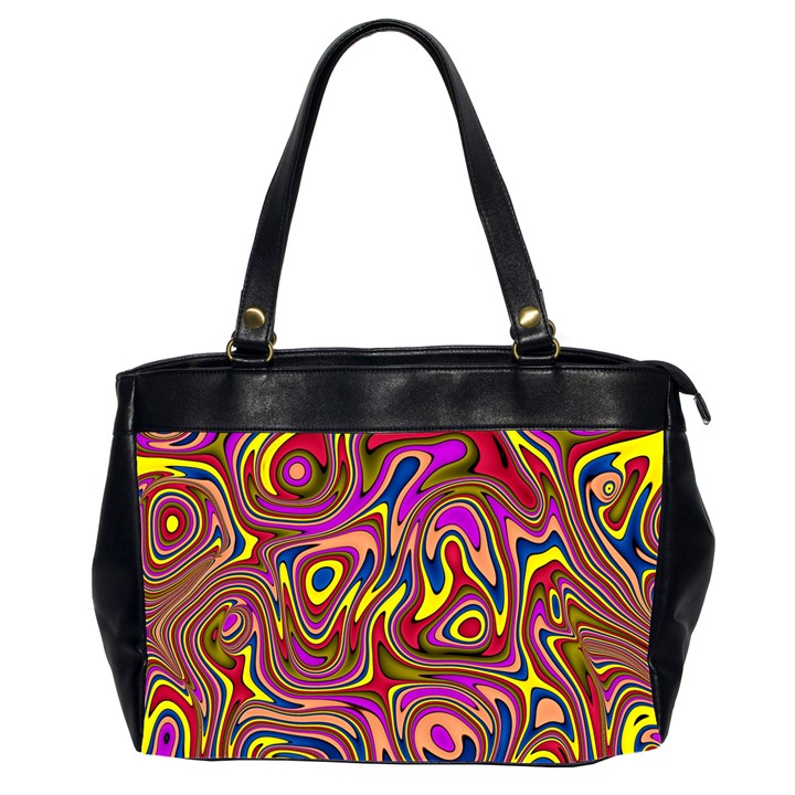 Abstract Shimmering Multicolor Swirly Office Handbags (2 Sides)