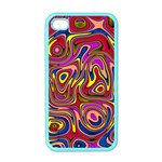 Abstract Shimmering Multicolor Swirly Apple iPhone 4 Case (Color) Front