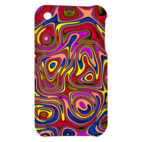 Abstract Shimmering Multicolor Swirly Apple iPhone 3G/3GS Hardshell Case