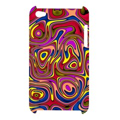 Abstract Shimmering Multicolor Swirly Apple iPod Touch 4
