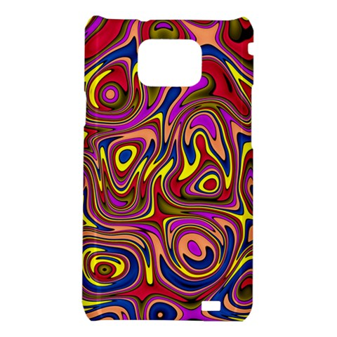 Abstract Shimmering Multicolor Swirly Samsung Galaxy S2 i9100 Hardshell Case