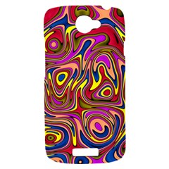 Abstract Shimmering Multicolor Swirly HTC One S Hardshell Case