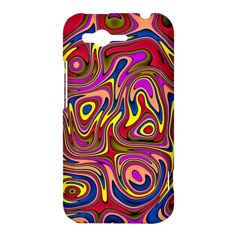 Abstract Shimmering Multicolor Swirly HTC Rhyme