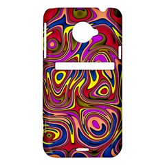 Abstract Shimmering Multicolor Swirly HTC Evo 4G LTE Hardshell Case