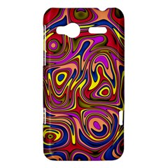 Abstract Shimmering Multicolor Swirly HTC Radar Hardshell Case