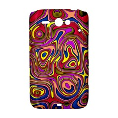 Abstract Shimmering Multicolor Swirly HTC ChaCha / HTC Status Hardshell Case