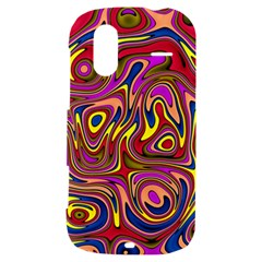 Abstract Shimmering Multicolor Swirly HTC Amaze 4G Hardshell Case