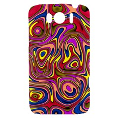 Abstract Shimmering Multicolor Swirly HTC Sensation XL Hardshell Case