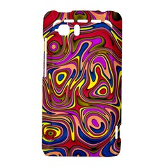 Abstract Shimmering Multicolor Swirly HTC Vivid / Raider 4G Hardshell Case