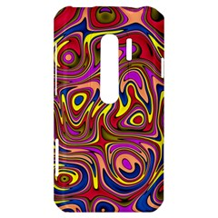 Abstract Shimmering Multicolor Swirly HTC Evo 3D Hardshell Case