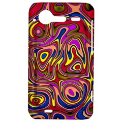 Abstract Shimmering Multicolor Swirly HTC Incredible S Hardshell Case